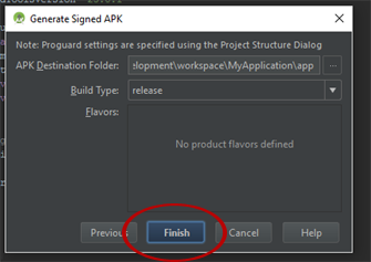 Generate Signed APK Using Android Studio