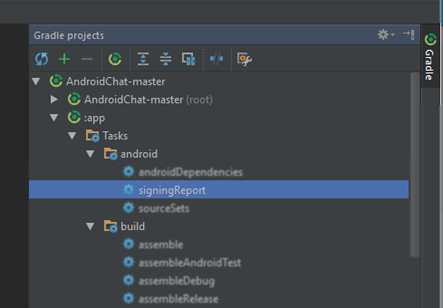 how to get sha 1 android studio