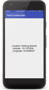 Android Track Current Location Using Background Service